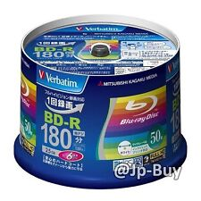 50 Verbatim Bluray Discs 6x Speed 25GB BD-R Inkjet Printable Bluray Region Free
