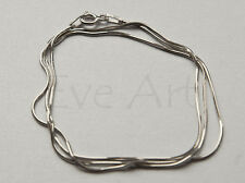 Snake Sterling Silver plated Rhodium 925 Chain 45cm 45 cm Kette