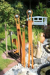 EDELROST Menschen Familie Family Skulptur Rost Gartendeko Stele Edel Kunst NEU