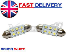 2x 36mm Xenon Blanco 6000k Led matrícula Festoon Luz bombillas 272 C5w Sv8,5