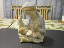 Antique/Vintage German Bisque Figural group - Virgin Mary and infant Jesus