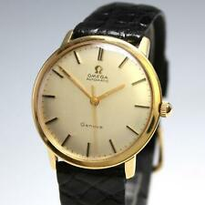 Vintage Solid 18K Gold Omega Automatic Geneve 24 Jewel Cal. 552 Men's Watch Runs