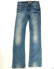 Fornarina Women's light wash boot cut distressed jeans size 25