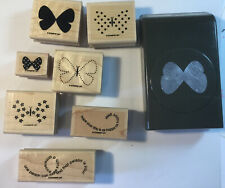 Stampin' Up! Punch & Rubber Stamp Set Flight Of Butterfly Bundle Craft Scrapbook