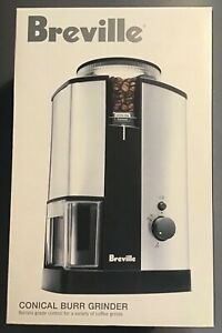 Breville Conical Burr Coffee Bean Grinder New In Box