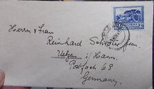 Brief Südafrika 17.11.1937 nach Ülzen