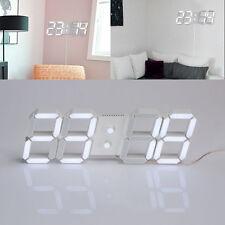 Modern USB 3D Digital LED Home Wall Clock Timer 24/12 Hour Display Alarm Clock