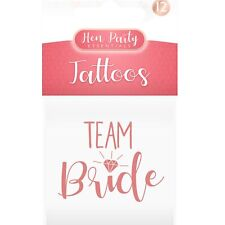 12 x Hen Party Night Team Bride Temporary Gold Tattoos Bride To Be Squad