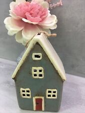 More details for retro  ceramic village tall house money box piggy bank pottery  295104 boxed