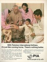 1980 Original Advertising' Pia Pakistan International Airlines Family