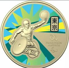 Olympic Paralympics 2020 $1 Carded Coin Wheelchair Rugby Tokyo RAM