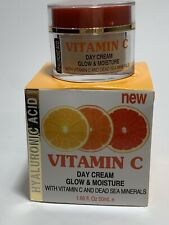 Spa Cosmetics Hyaluronic Acid Vitamin C/Dead Sea Mineral Day Cream Glow Moisture