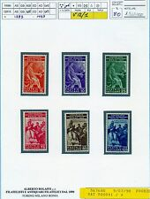 Vaticano Pio XI- Congresso Giuridico 6 Val.Integri  Bolaffi Certificato Fin.80%