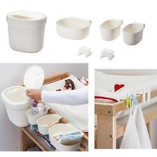IKEA Baby Change Table Nappy Baskets Holder Storage Organiser Set of 6 + a Gift