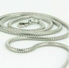 Snake Chain Necklace - Sterling Silver - 1.2mm* - 26 inch* (aA)