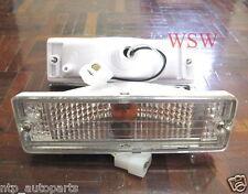 2 x Crystal Front Indicator Bar Lights Pair For Nissan Navara D21 Ute 86-97 87