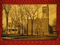 1914. EDGERTON, WISCONSIN. CATHOLIC CHURCH AND PARSONAGE. POSTCARD I12