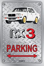 Parking Sign Metal MazdA RX3 4-door-07 - Checkerplate Look