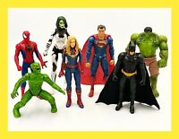 DC & Marvel Action Figures Heroes & Villains Lot of 7