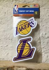 New Los Angeles Lakers Set of 2 Die Cut Decal Stickers 4x8 Perfect Cuts