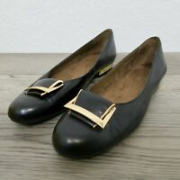 Aerosoles Womens Good Times Shoes Size 8.5 Closed Toe Loafers Black Leather