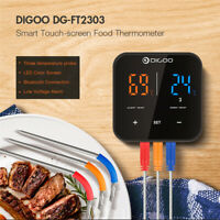 DIGOO 3 Probe LED bluetooth Meat Thermometer Barbecue BBQ Temp Meter APP