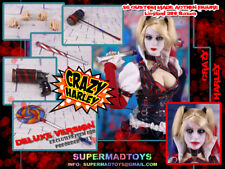 (AU) 1/6 Supermad Toys Crazy Harley DC Suicide Squad Harley Quinn Deluxe Version