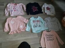Girls Long Sleeve Tops X 7 Age 18-24 Months
