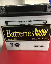 12N7-4B Battery - Triumph, Aspes, Fantic Small Motors ,tillers  - with Acid Pack