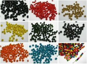 1000 pcs Round Wood Beads 4mm Wooden Mini Spacer Beads Colour for Choice