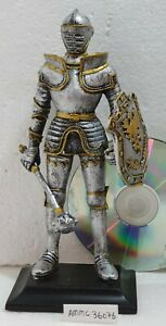 MEDIEVAL CRUSADER KNIGHT STATUE WITH SHIELD & WARHAMMER NEW