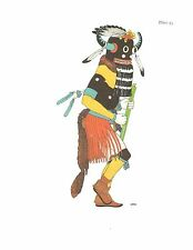 VIRGINIA ROEDIGER Pueblo Tribes Ceremonial Book Print TUNGWUP KACHINA, HOPI