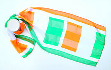 Flags of Ireland Chiffon Satin Men Women Scarf [Kongle]
