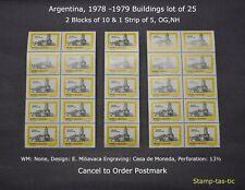*1978/79 Argentina, Buildings Lot of 25, #3662, NH/OG, CTO*