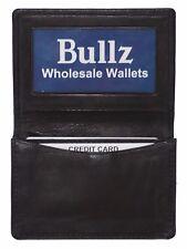 Men's Genuine Leather Bifold ID Expandeble Credit Card Money Holder Wallet Black