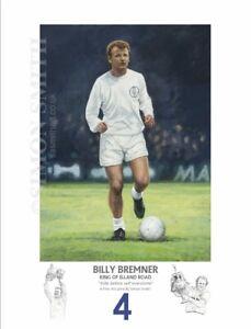 BILLY BREMNER LEEDS UNITED DON REVIE ERA 1970's ARTIST SIGNED LTD EDITION PRINT