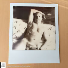 Original Polaroid Artistic Photo of Gio #1 - B&W Real Man Body Art Polaroid
