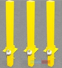 3 x Security parking posts, fold down heavy duty, Parking Bollard Maypole MP9739