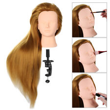 "24"" 70% Human Hair Practice Hairdressing Training Head Mannequin Doll + Clamp"