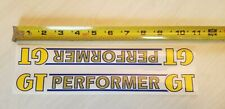1984 - 1985 Gt Performer frame decal yellow & blue on clear old school bmx