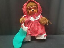 1991 Robert Raikes Nicolette Holiday Wooden Carved Face Bear