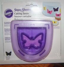 Wilton Sugar Sheets BUTTERFLY Cutting Insert Border Designs Use with Punch NIP