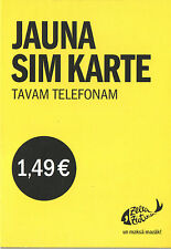 New ZZ Tele2 Latvia prepaid SIM card