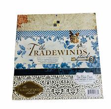 DCWV The Tradewinds Premium cardstock Matstack 12X12 48 sheets scrapbooking