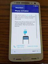 Motorola Droid Turbo 2 - 32GB - White/purple (Verizon) Smartphone w/charge cord