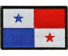 "(H27) PANAMA FLAG 3"" x 2"" iron on patch (5179) Biker"