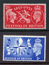 GB MNH STAMP SET KGVI 1951 1952 FESTIVAL OF BRITAIN SG 513-514 KING GEORGE VI