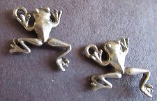 Frog Reptile Jumping Charms Earrings Two Included Silver Color - Jewelry New