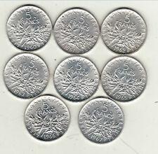 5 francs semeuse argent a saisir série de 1960a 1967 de qualitè !