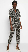 Wallis Black Ditsy Floral Print Jumpsuit with Belt
